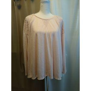 Size L Cato light pink long sleeve shirt